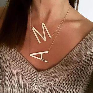 ✨NEW! Trendy Big Letter Necklace Pendant Statement